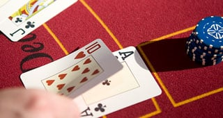Blackjack Table and Cards
