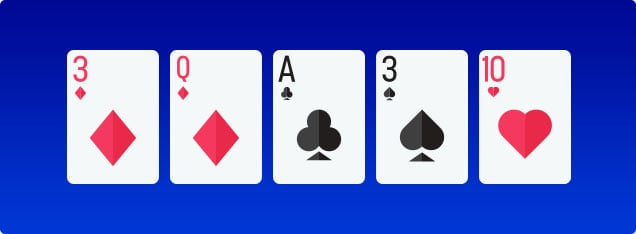 Video poker first cards down