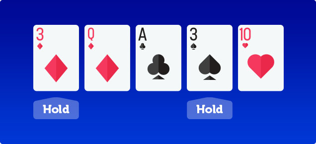 Video poker hold your cards