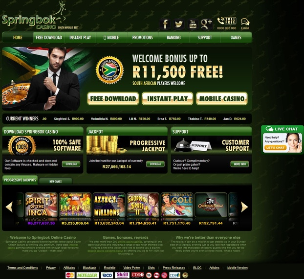 Springbok Casino Review