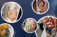 Tattoos with game characters