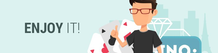vector of person enjoying playing blackjack