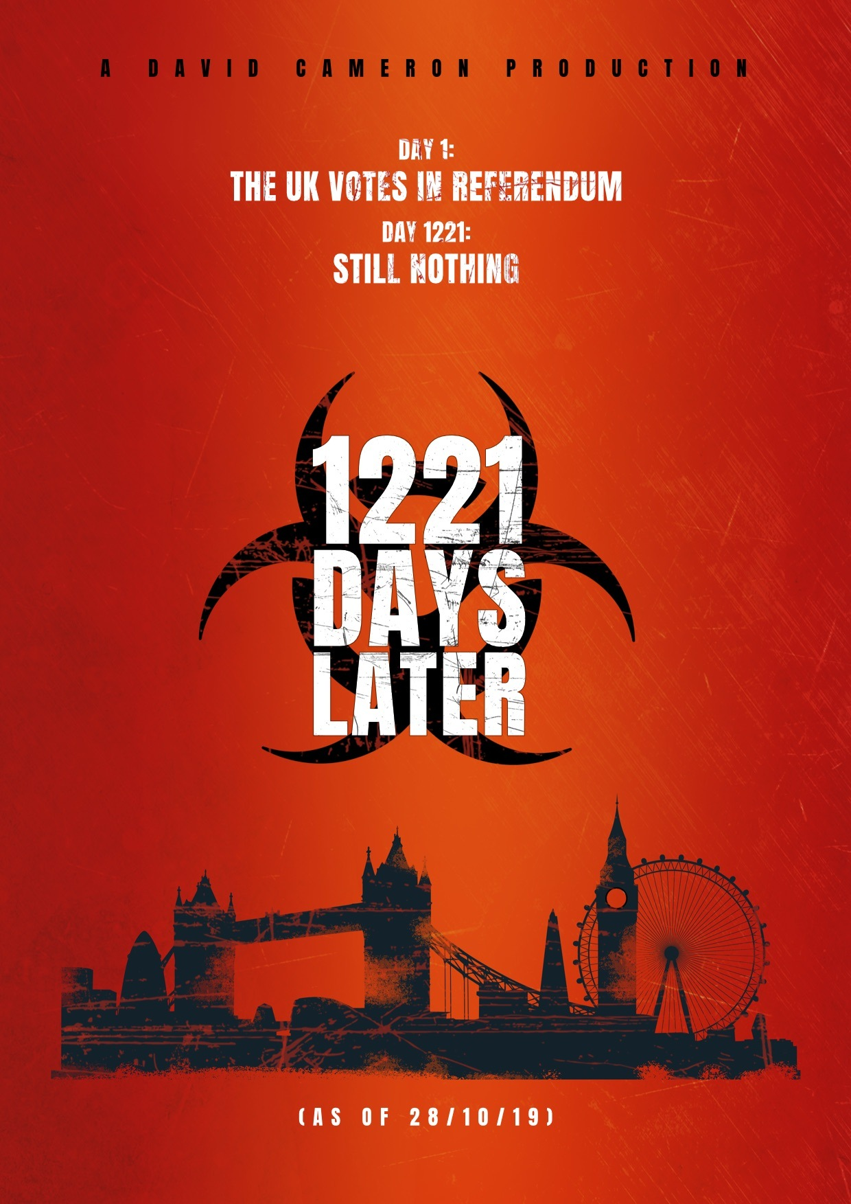 28 days later movie poster, brexit