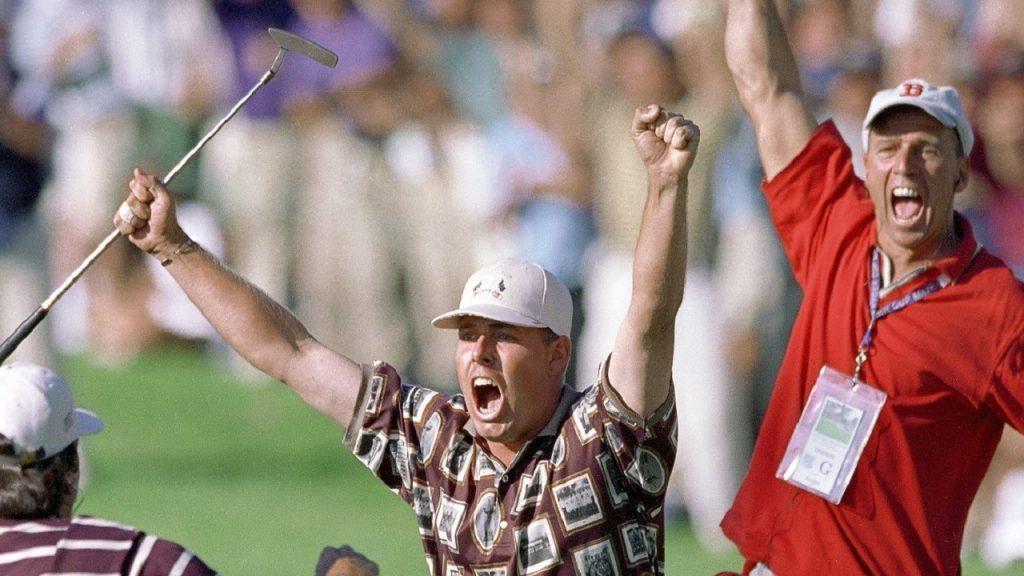 Justin Leonard wins Ryder cup 1999