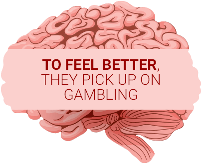 pink brain showing why gamblers get hooked