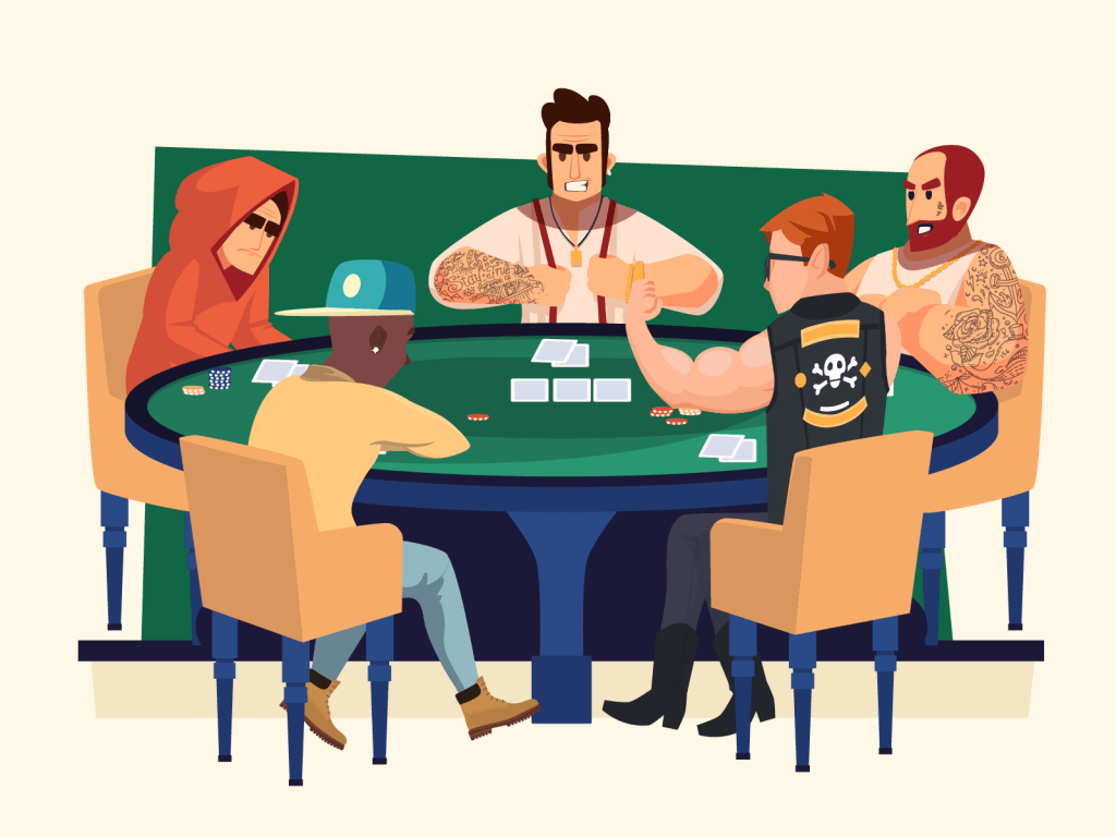 Shady characters playing poker