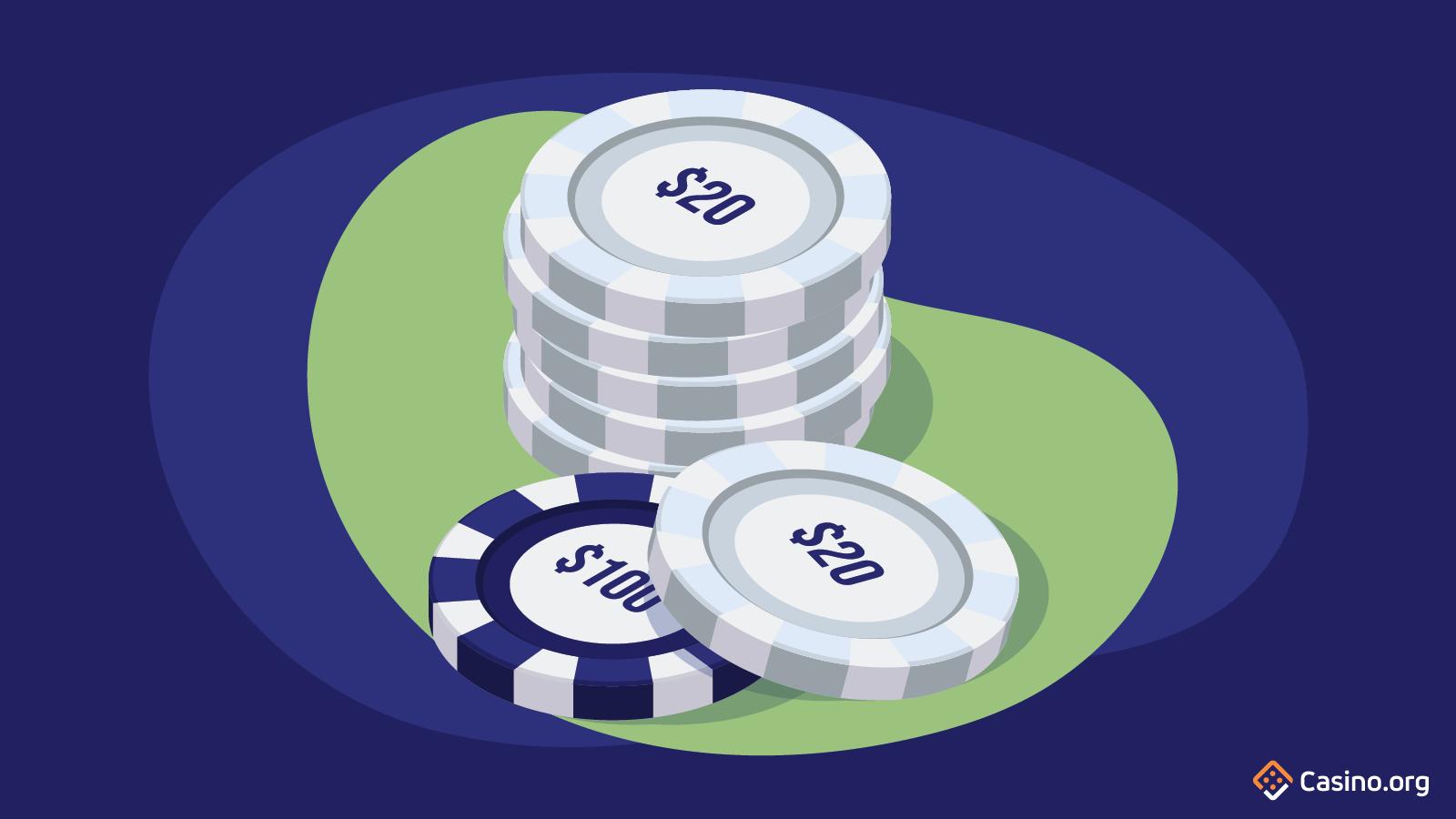 Hiding big chips in poker