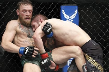 Conor McGregor fighting