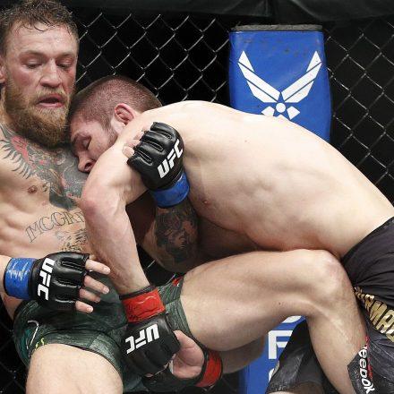 Conor McGregor fighting