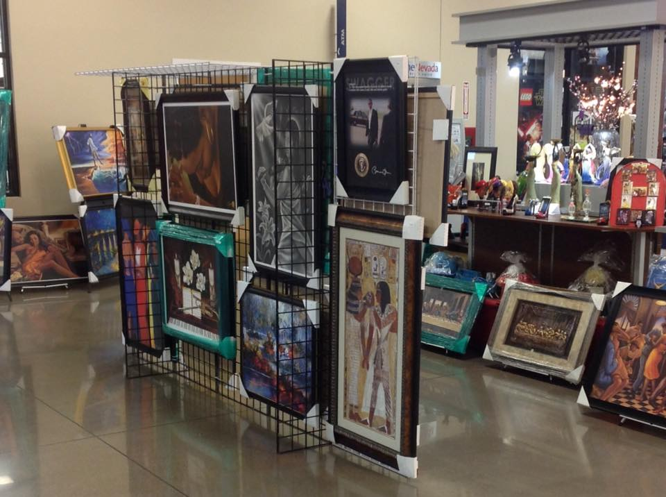 Paintings at Vegas pop-up market