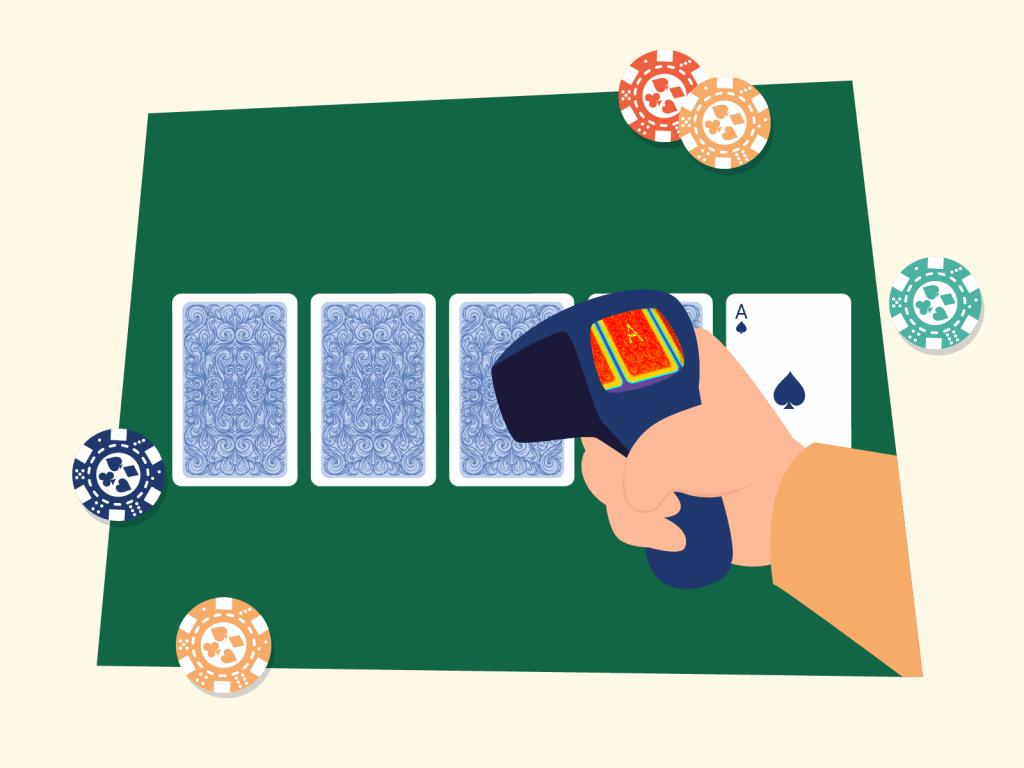 IR camera scanning card markings