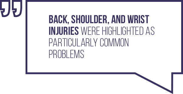A quote regarding typical injuries a blackjack dealer can pick up