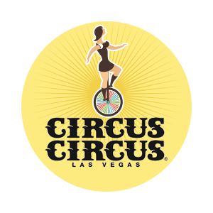 circus circus free shows on yellow background