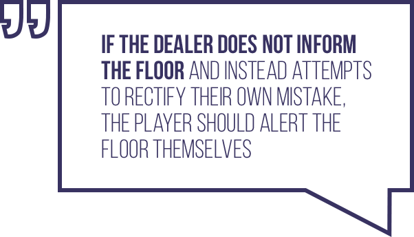 A quote regarding the situation where a dealer makes a mistake