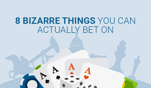 playing cards on blue background with title text 8 bizarre things you can actually bet on