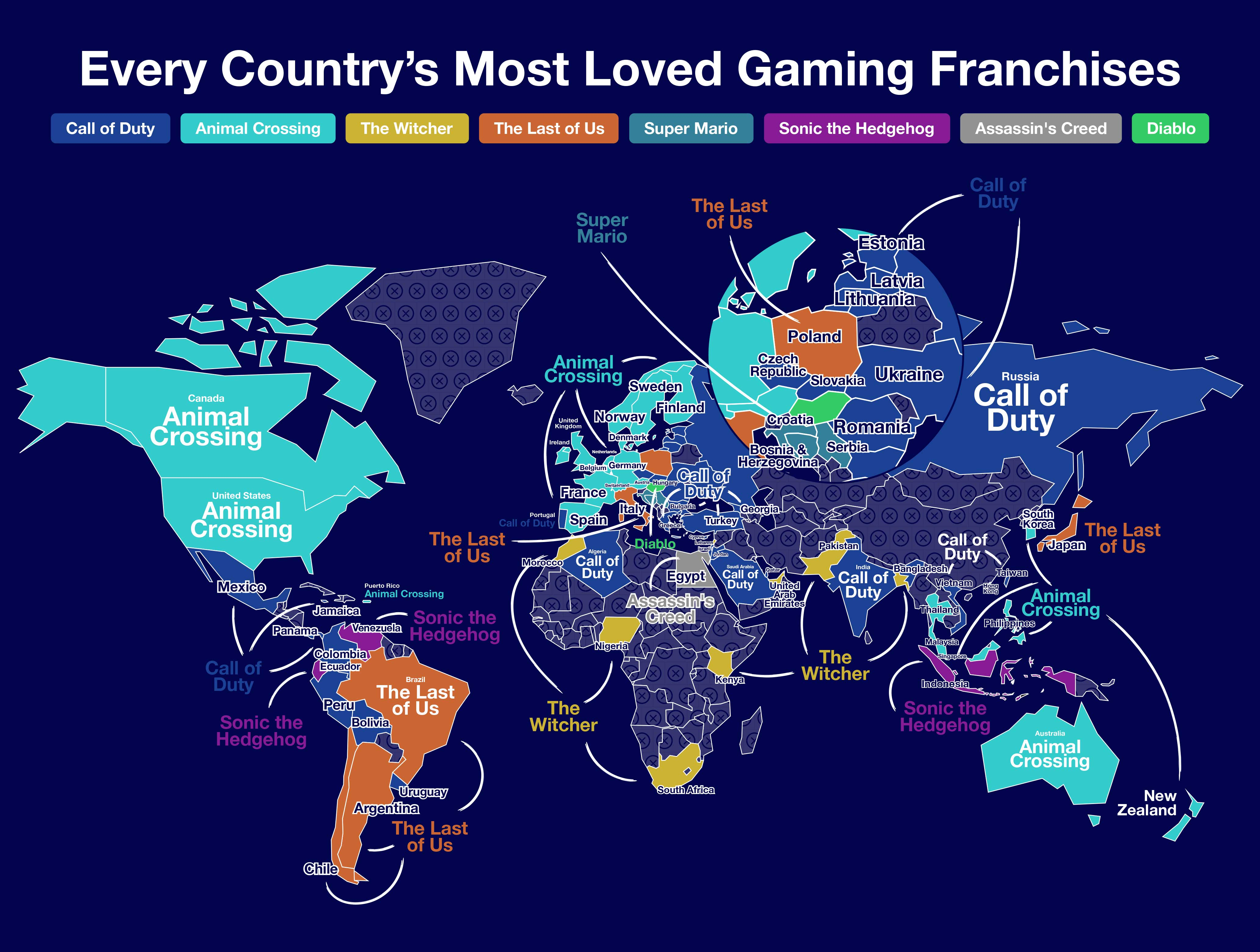 Every Country's Favorite Gaming Franchise