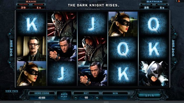 Batman's popularity has spread to all forms of games including slots