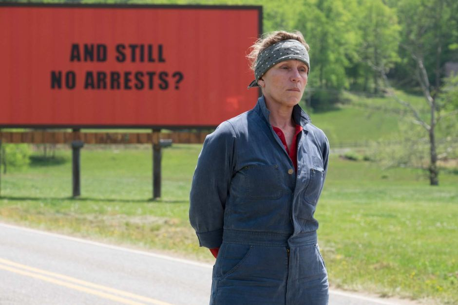 Frances McDormand in a scene from Three Billboards
