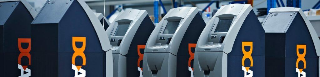 An ATM to withdraw funds from a bank account