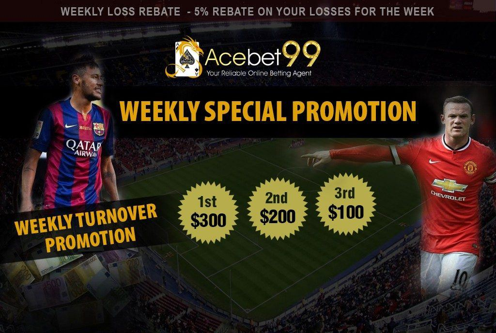 Acebet weekly special promotion