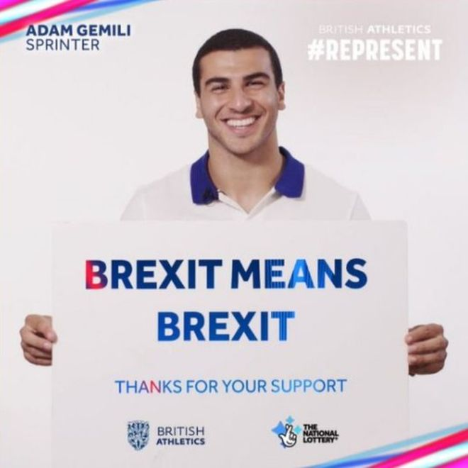 Adam Gemili, promoting British Athletics sponsored by the National Lottery