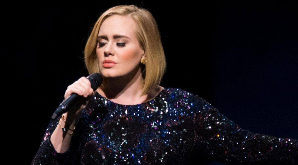 International star Adele performing at a show