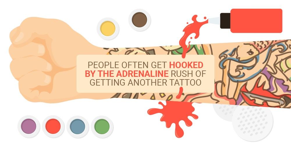 The adrenaline rush of getting tattoos