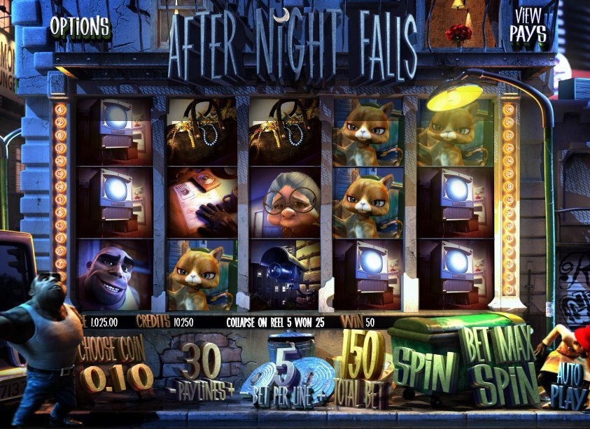 Betsoft Gaming's After Night Falls crime slot