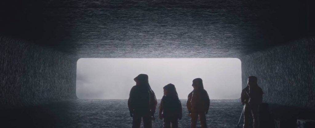 An image from a scene from the movie Arrival