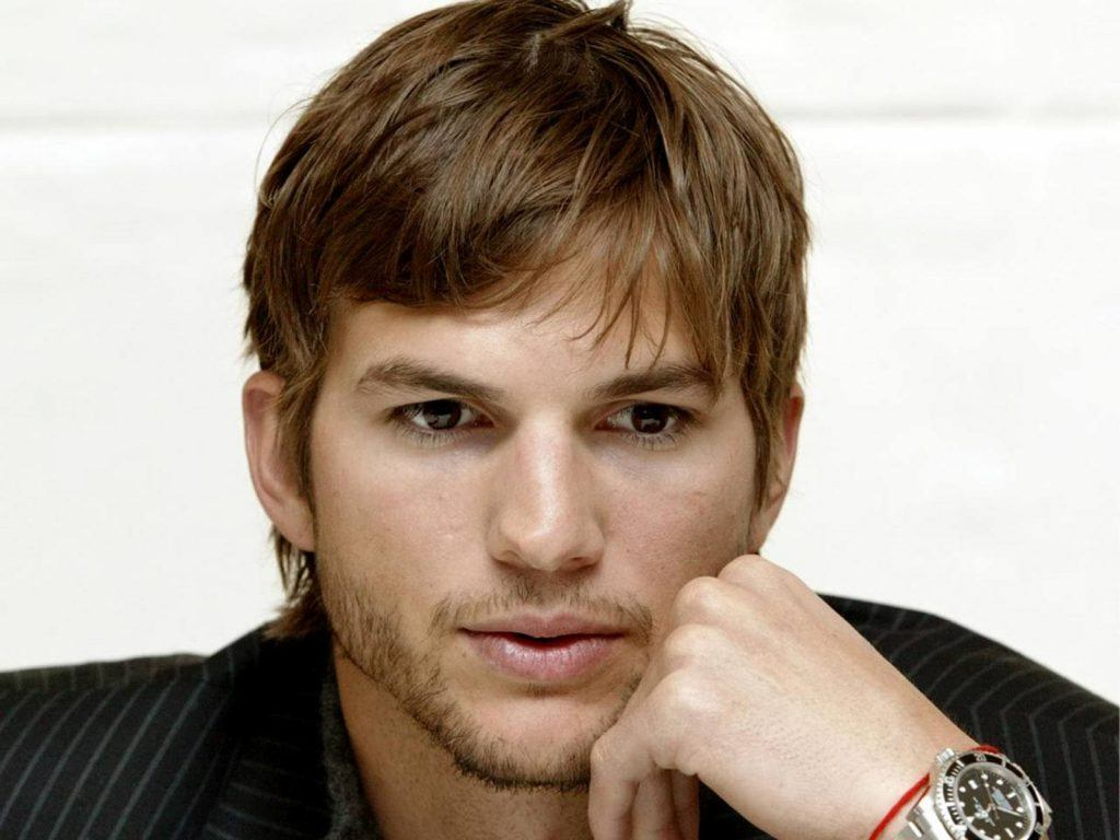 A photo of Ashton Kutcher, a celebrity and businessman