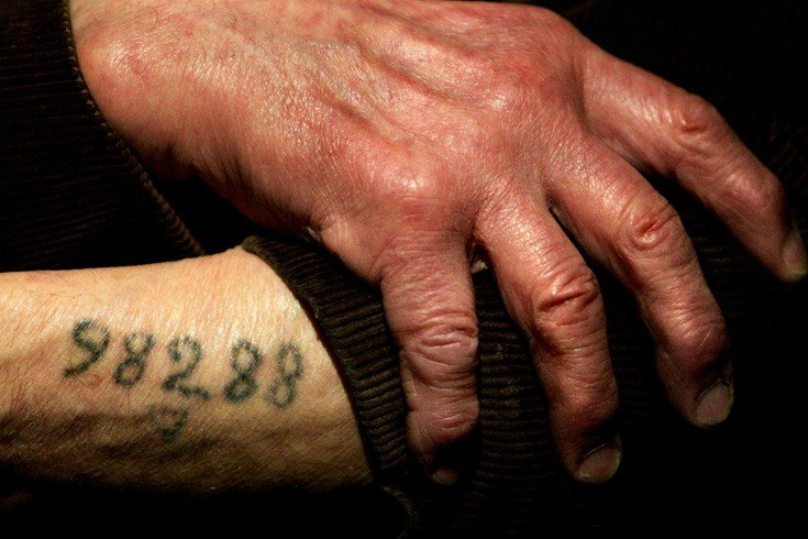 A tattoo that was used during Auschwitz to identify prisoners