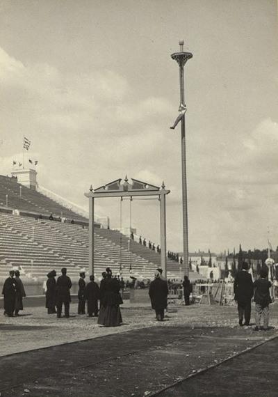 Panjat tali di Olimpiade 1896.