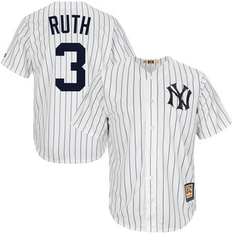 An image of the famous New York Yankess jersey worn by Babe Ruth
