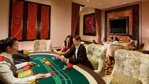 A private VIP room for Baccarat players