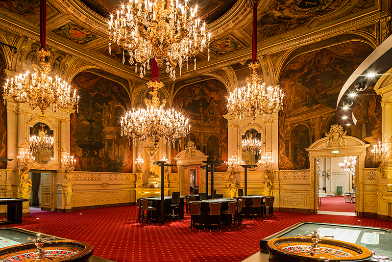 Inside the Baden-Baden Casino in Germany