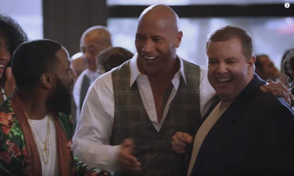 A scene from the TV show Ballers, where RJ Bell made a cameo appearance