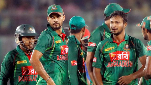 Players from the Bangladesh Cricket team