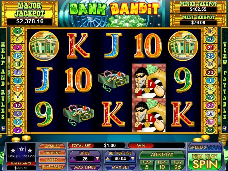NuWorks Gaming's bank robbery themed slot