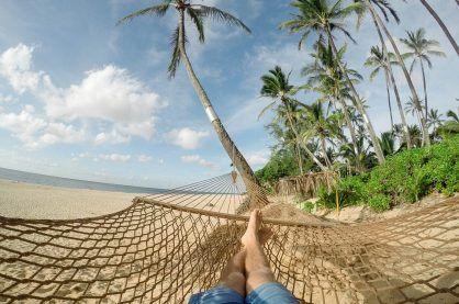 Beach Hammock Blue Sky