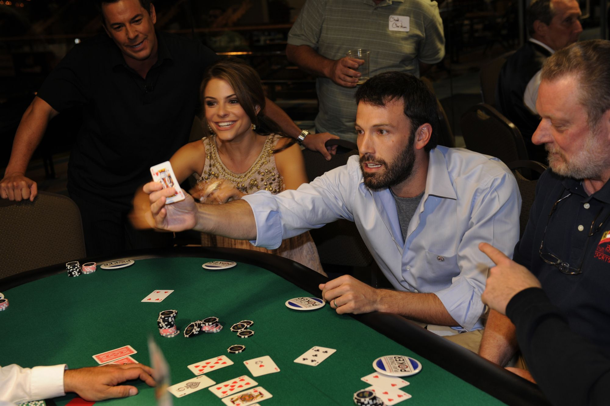 Ben Affleck having fun at the poker table