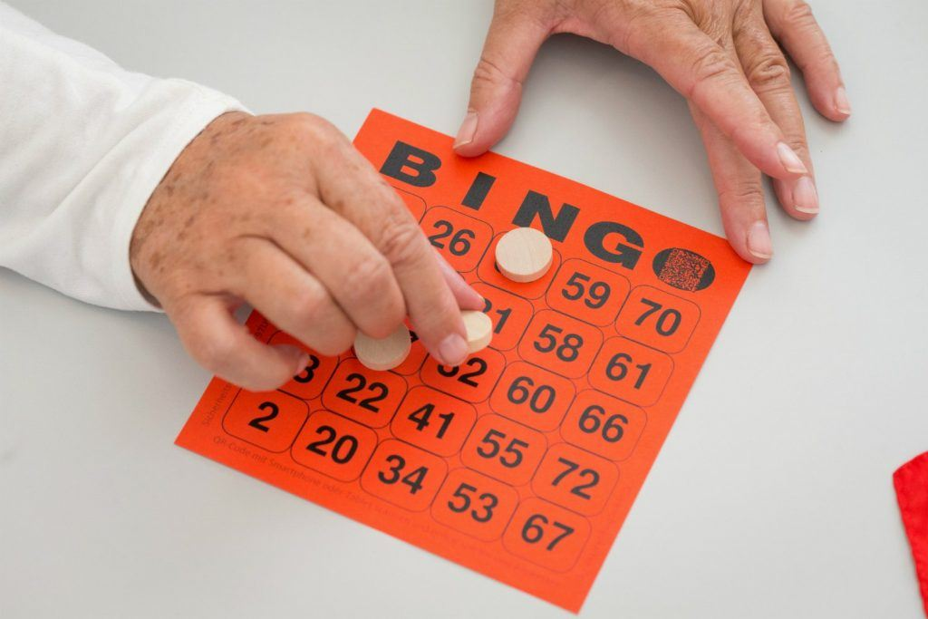 A typical example of a Bingo card