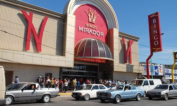 A popular bingo hall in South America