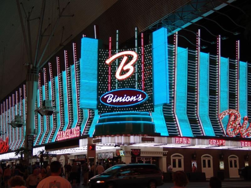 An image of Binions Casino, situated in downton Las Vegas