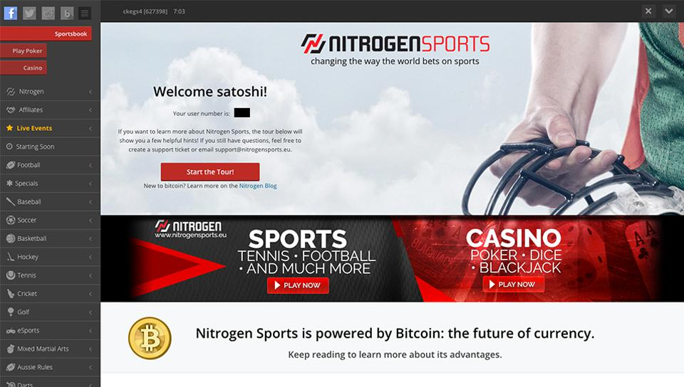 An online casino/sportsbook powered by Bitcoin
