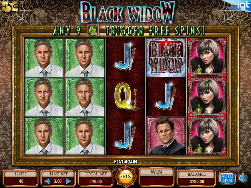 IGT's Black Widow slot based off the Hollywood movie