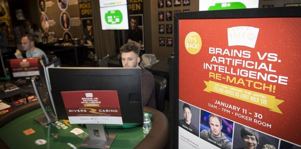 Brain vs A.I. gambling challenge