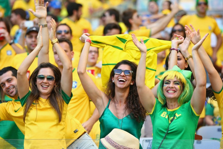 Brazilian fans from the 2014 World Cup