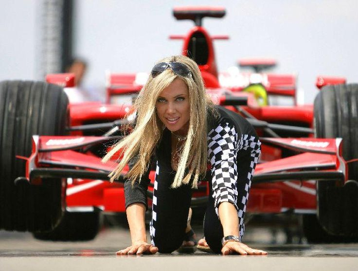 US Model Bridget Lee as a grid girl at the Formula One