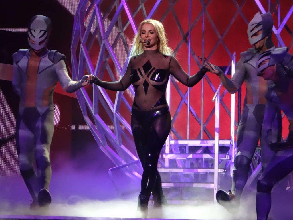 Britney Spears performing at the Planet Hollywood Hotel