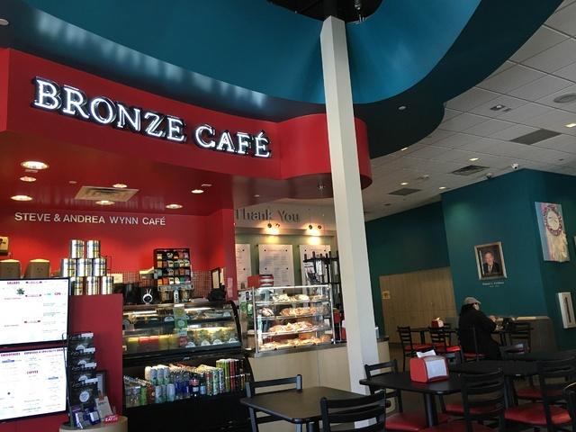Inside the vegan restaurant; Bronze Cafe